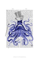 Octopus About Town Framed Print