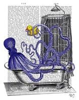 Octopus in Bath Framed Print
