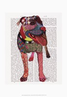 Staffordshire Bull Terrier - Patchwork Framed Print