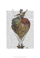 Hot Air Balloon Woman 3 Framed Print