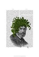 Ivy Head Plant Head Framed Print