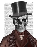 Skeleton Gentleman and Top hat Framed Print