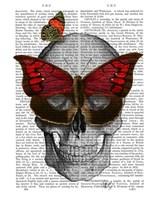 Pink Butterfly Mask Skull Fine Art Print