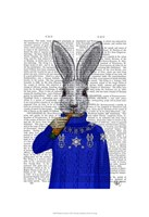 Rabbit In Sweater Framed Print