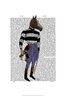 Horse Racing Jockey Full Framed Print