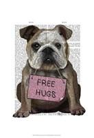 Bulldog Free Hugs Framed Print