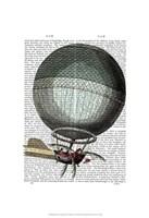 Blanchard Vintage Hot Air Balloon Framed Print