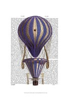 Tiered Hot Air Balloon Blue Framed Print