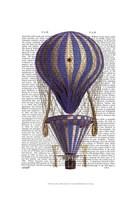 Tiered Hot Air Balloon Blue Framed Print