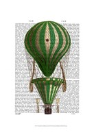 Tiered Hot Air Balloon Green Framed Print