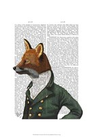 Dandy Fox Portrait Framed Print