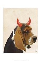 Little Devil Basset Hound Framed Print