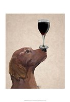 Red Setter Dog Au Vin Fine Art Print