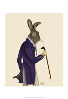 Hare In Purple Coat Framed Print