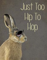 Too Hip To Hop Grey Framed Print