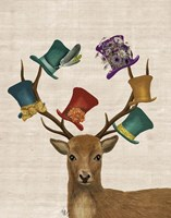 Hat Collector Deer Fine Art Print