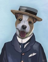 Jack Russell in Boater Fine Art Print