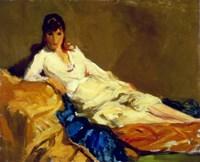 Marjorie Reclining, 1918 Fine Art Print