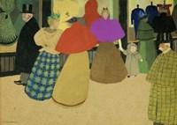 Les Passants Street Scene, 1895 Fine Art Print
