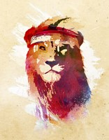 Gym Lion Fine Art Print