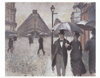 Paris - A Rainy Day, 1877 Fine Art Print
