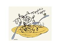Spaghetti is So Slippery, c. 1958 Fine Art Print