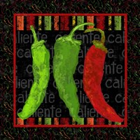 Spicy Peppers I Framed Print