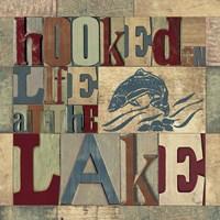 Lake Living Printer Blocks I Framed Print