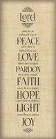 Bible Verse Panel IV (Instrument of Peace) Framed Print