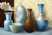 Soft Blue Vase Fine Art Print