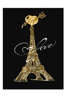 Parisian Golden Love Fine Art Print