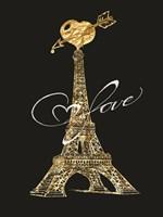 Parisian Golden Love Framed Print