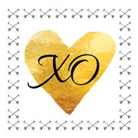 XO (Square) Framed Print
