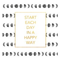 Happy Way (Square) Framed Print