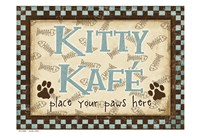 Kitty Kafe Blue Fine Art Print