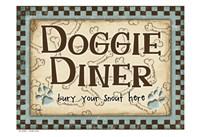 Doggie Diner Blue Fine Art Print