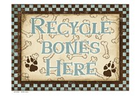 Recycle Bones Blue Fine Art Print