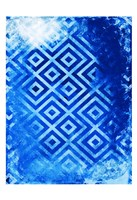 Bright Blue Patterns Fine Art Print