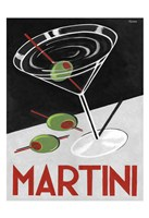 Retro Martini Time Fine Art Print
