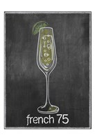 French 75 Chalk Framed Print
