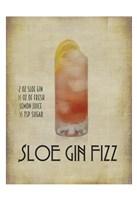 Sloe Gin Fizz Framed Print