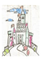 Sketch Castle I Framed Print