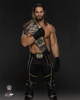 Seth Rollins with the WWE Championship Belt 2015 Fine Art Print