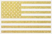 Gold Flag 3 Framed Print