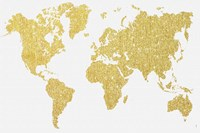 Gold Map Fine Art Print