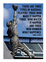 Three Types of Baseball Players Fine Art Print