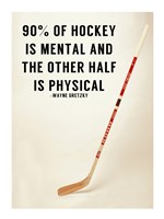90% Of Hockey Fine Art Print