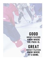 Great Hockey Player Fine Art Print
