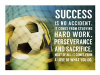 Success Soccer Quote Framed Print