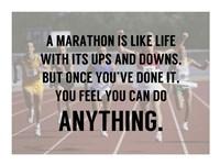 A Marathon is Like Life Fine Art Print